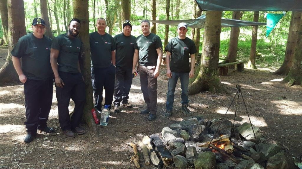 Corporate team building bushcraft | Rewilding Adventure