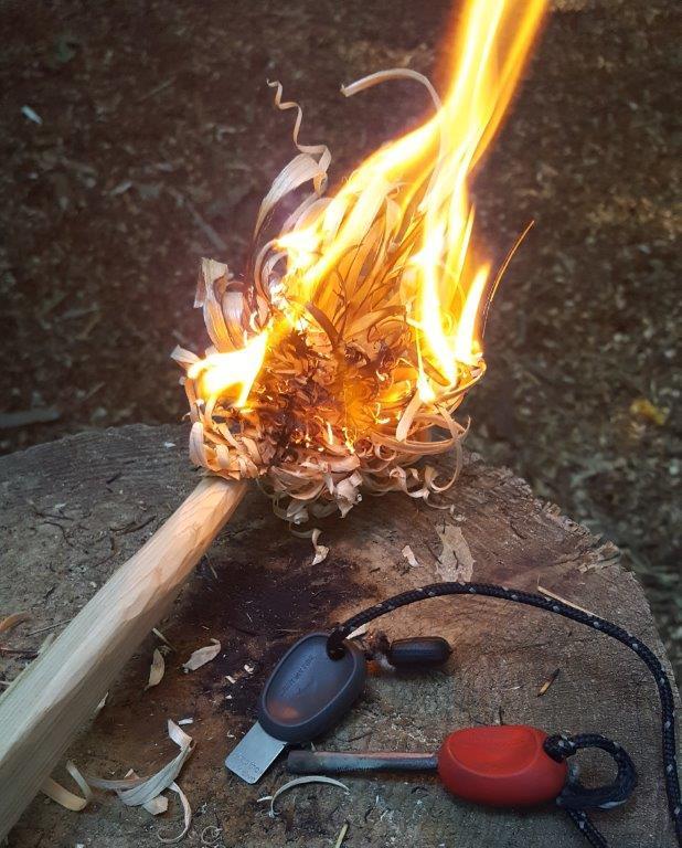 Featherstick Bushcraft Fire Campfire | Rewilding Adventure