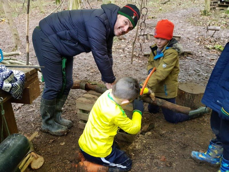 Sawing Bushcraft Party | Rewilding Adventures