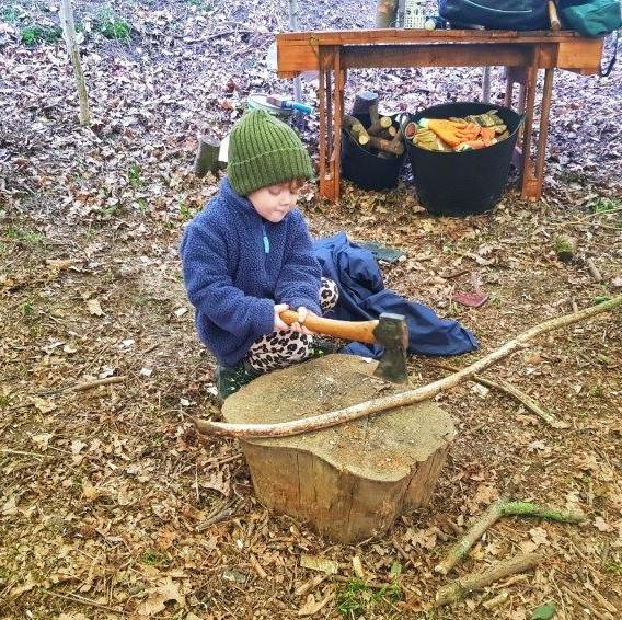 Forest School Chop chop