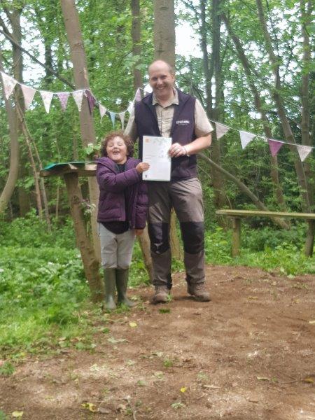 Forest School John Muir Award Certificate