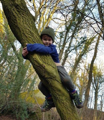 Forest School Loving the tree