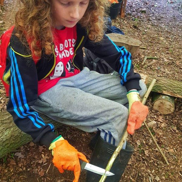Patience Forest School Sheath Knife Bushcraft