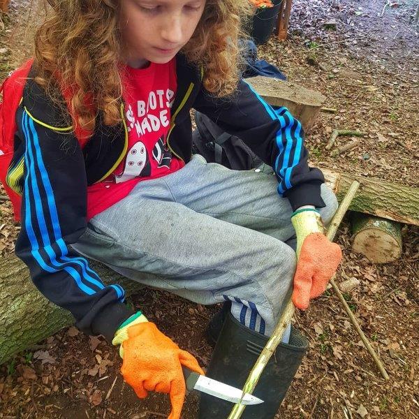 Patience Forest School Sheath Knife Bushcraft