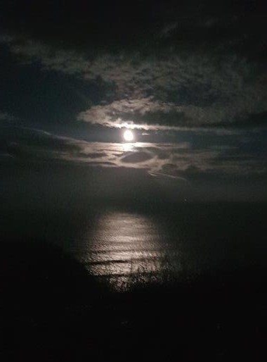 Moon on sea