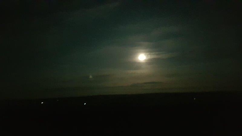 Moon over Danby Beacon