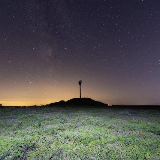 Beacon at night Dark Skies Dark Sky Festival North York Moors Star Gazing Rewilding