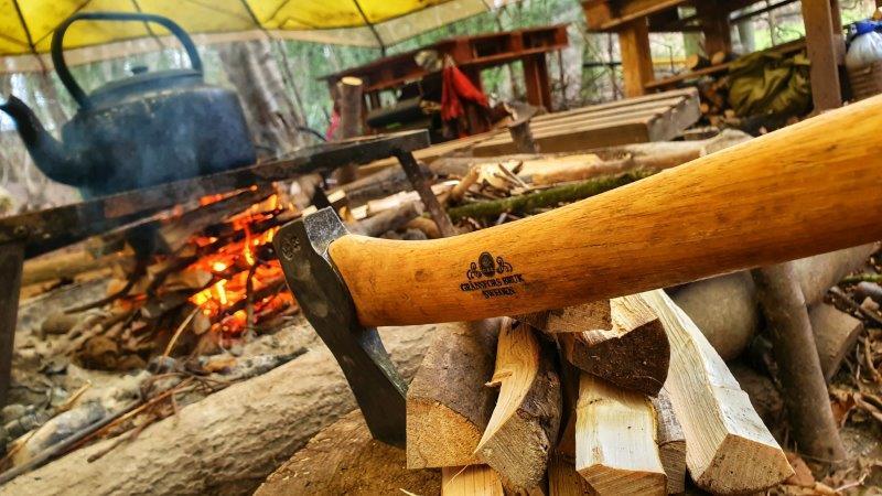 Bushcraft Campfire Axe Gransfers Wilderness Rewilding