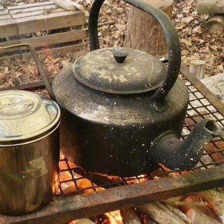 Bushcraft Rewilding Forest School Campfire Kettle 2
