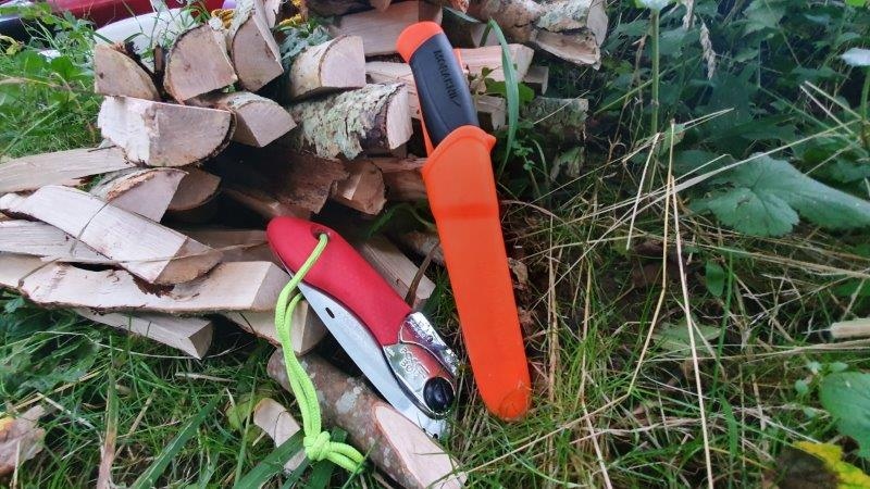 Bushcraft Rewilding Forest School Silky Saw SheathKnife Mora Kniv