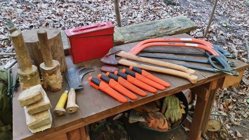 Bushcraft Rewilding Tools Sheath Knife Saw Axe Gransfers Bruks