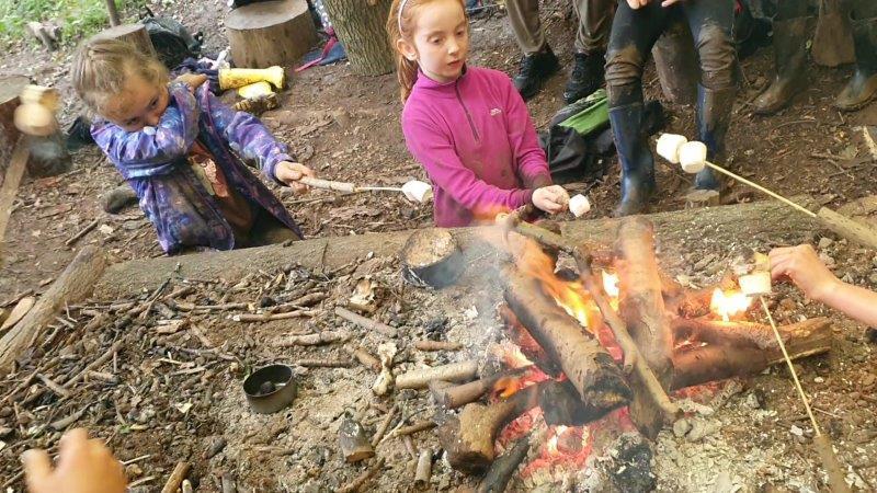 Feral Club Rewilding Adventure Campfire Marshmallows Smores