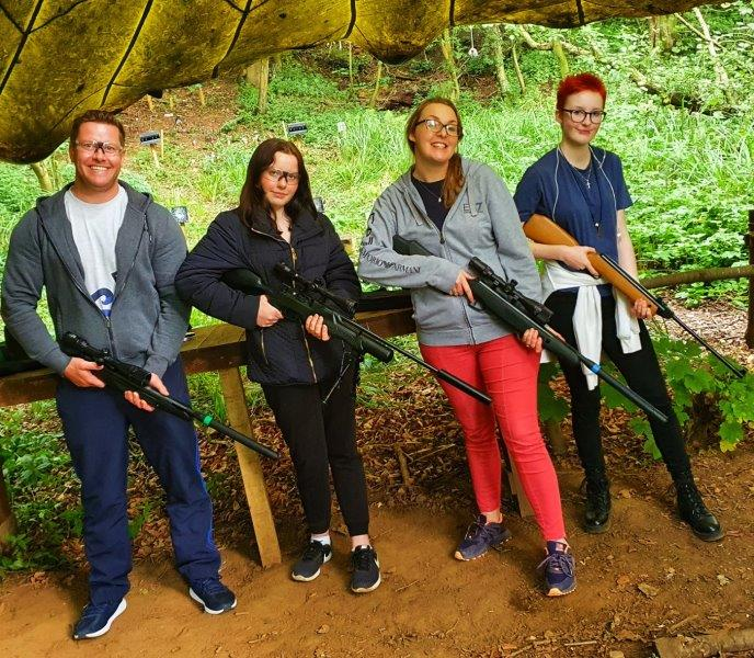Single Household Activity Sessions Rifle Shooting Family