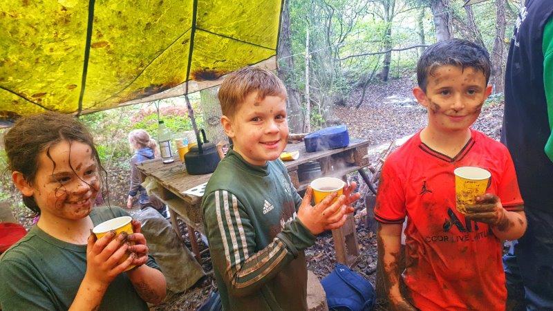 Warm Drinks Wild Activity Day Forest Bushcraft Muddy