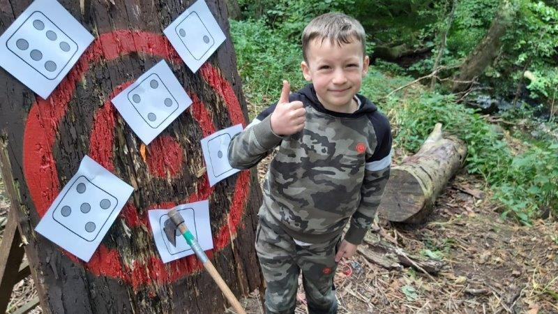 Wild Activity Day Axe Throwing Thumbs Up